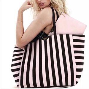Victoria's Secret Large Striped Tote